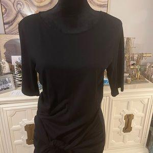 NWOT Michael Stars black tie waist dress, size L